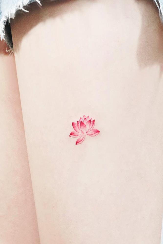 Legs Lotus Tattoo Designs Picture 2