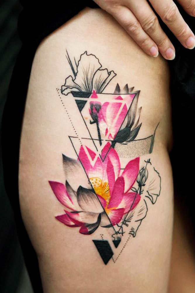 Lower Body Lotus Tattoo Picture 2