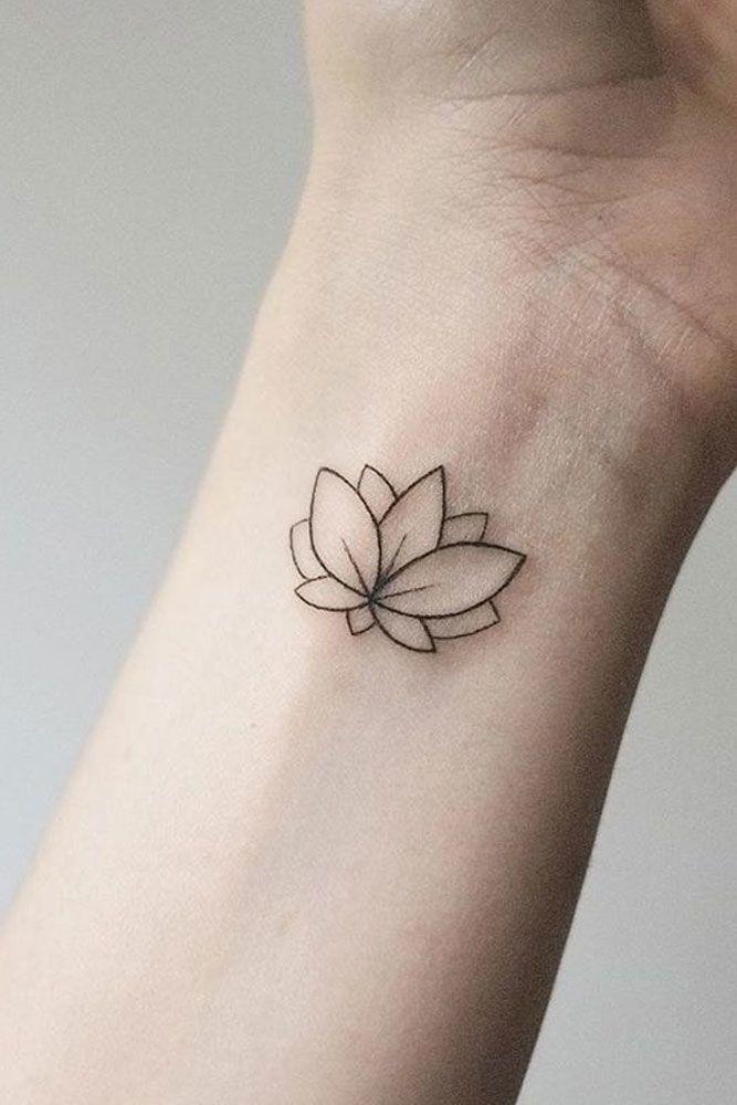 Simple Tiny Wrist Lotus Tattoo #simpletattoo #tinytattoo