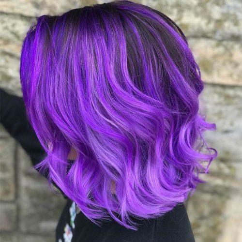 Molten Purple And Lavender #wavyhair #darkroot