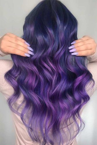 Long Wavy Hair Style #purplewaves #longhair