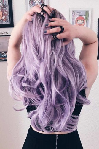 Pastel Wavy Long Hair Style #pastelhaircolor #wavyhair