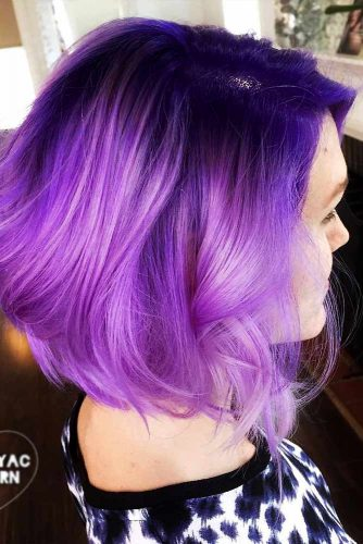 dark purple hair styles 46 purple hair styles that will make you believe in magic 1750 | purple hair short bob haircut dark ombre hairstyle 334x500