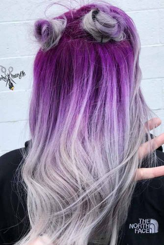 Purple To Light Gray Ombre