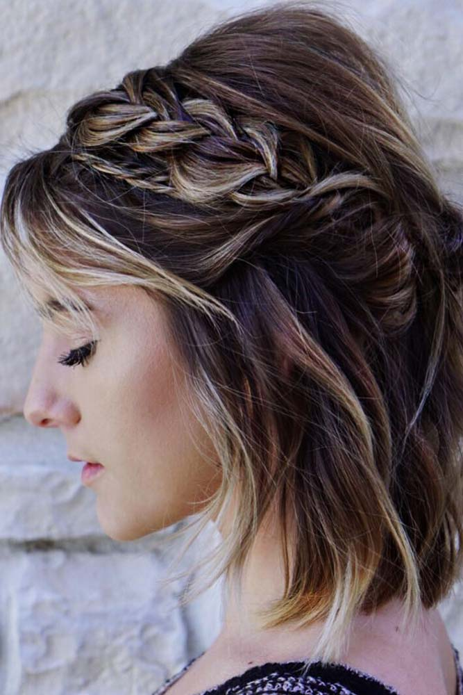 Beautiful Medium Hairstyles With Braids Picture 4