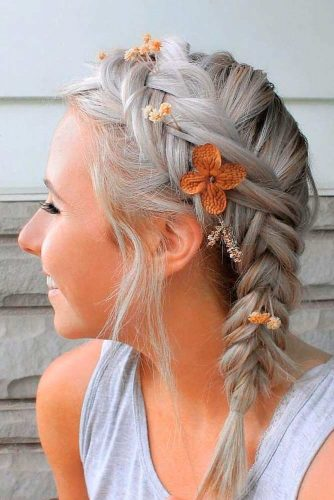Easy Shoulder Length Hairstyles With Braided Crown #braidedhairstyles #easyhairstyles