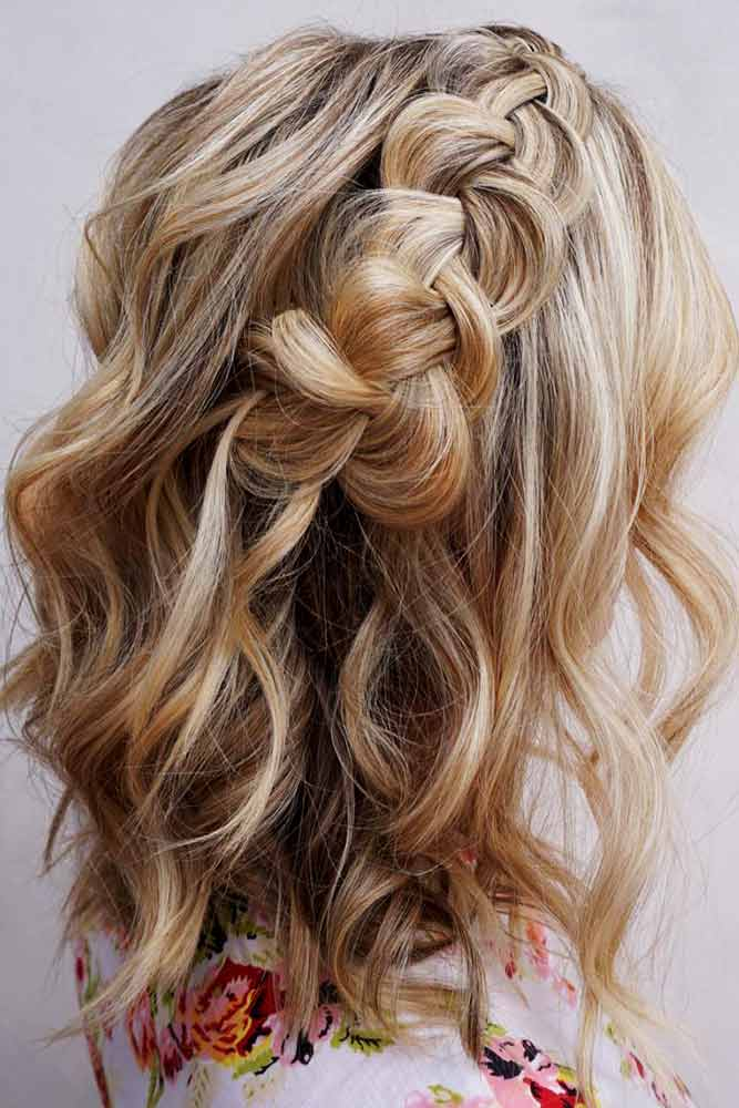 Beautiful Medium Hairstyles With Braids Picture 1