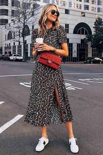 Midi Spring Dress With Leopard Print #printdress