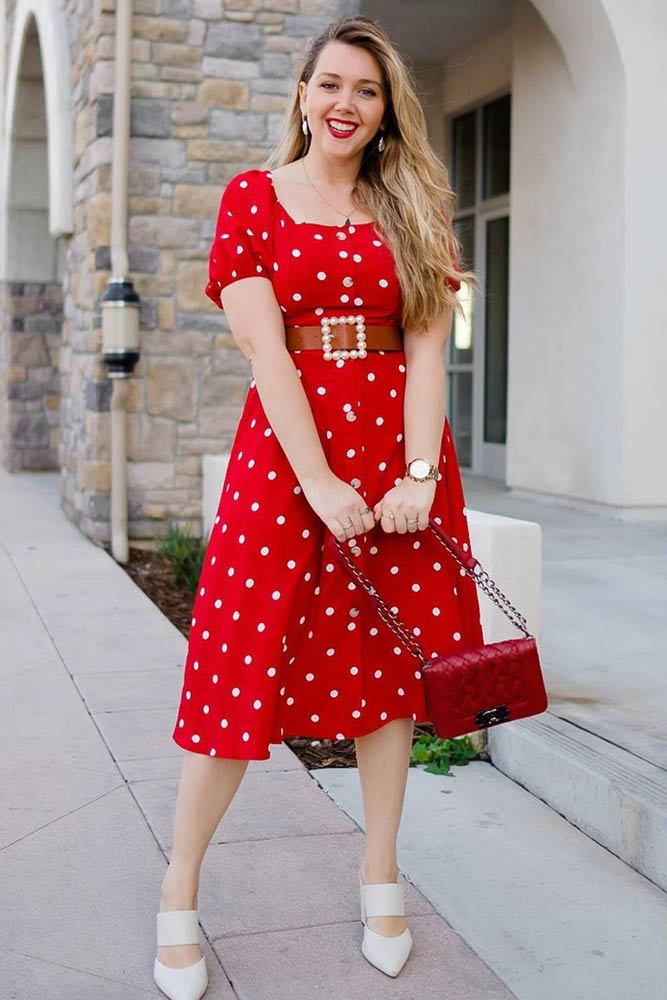 Vintage Red Dress Design #reddress