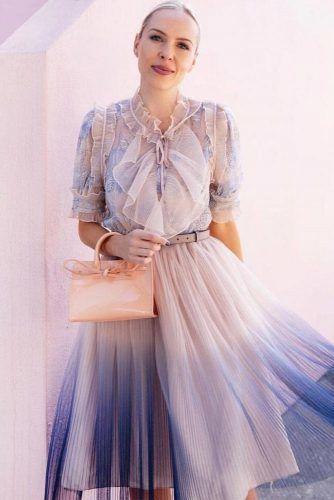 Ombre Spring Dress Design #ruffles