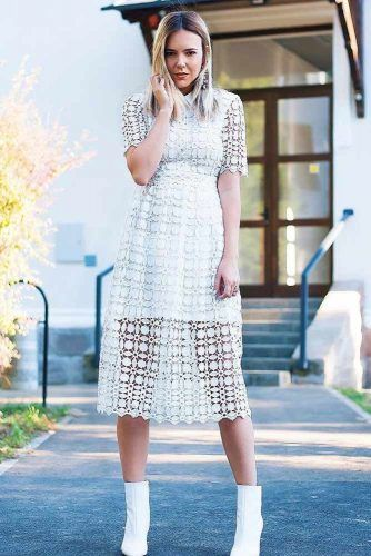 White Lace Spring Dress #lacedress