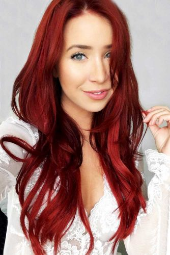 Saturated Red Hair Style to Rock Picture 3
