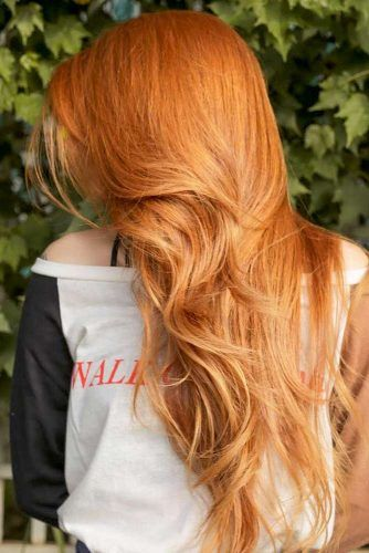 Strawberry Blonde Hair Color For Spring Look #strawberryblonde