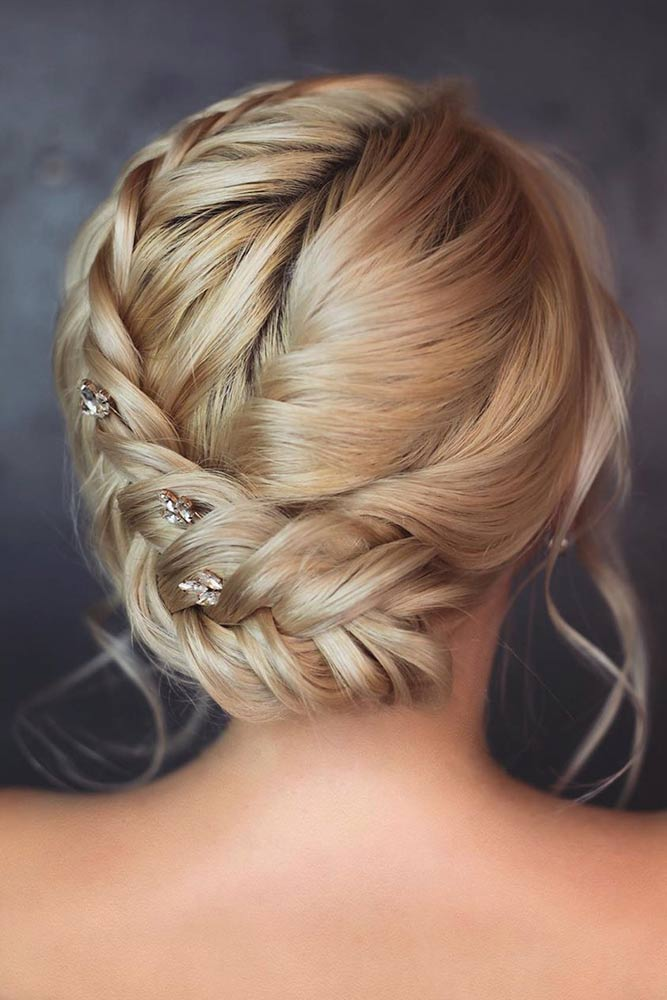 Side Braided Updo #updos #beaidedhairstyles