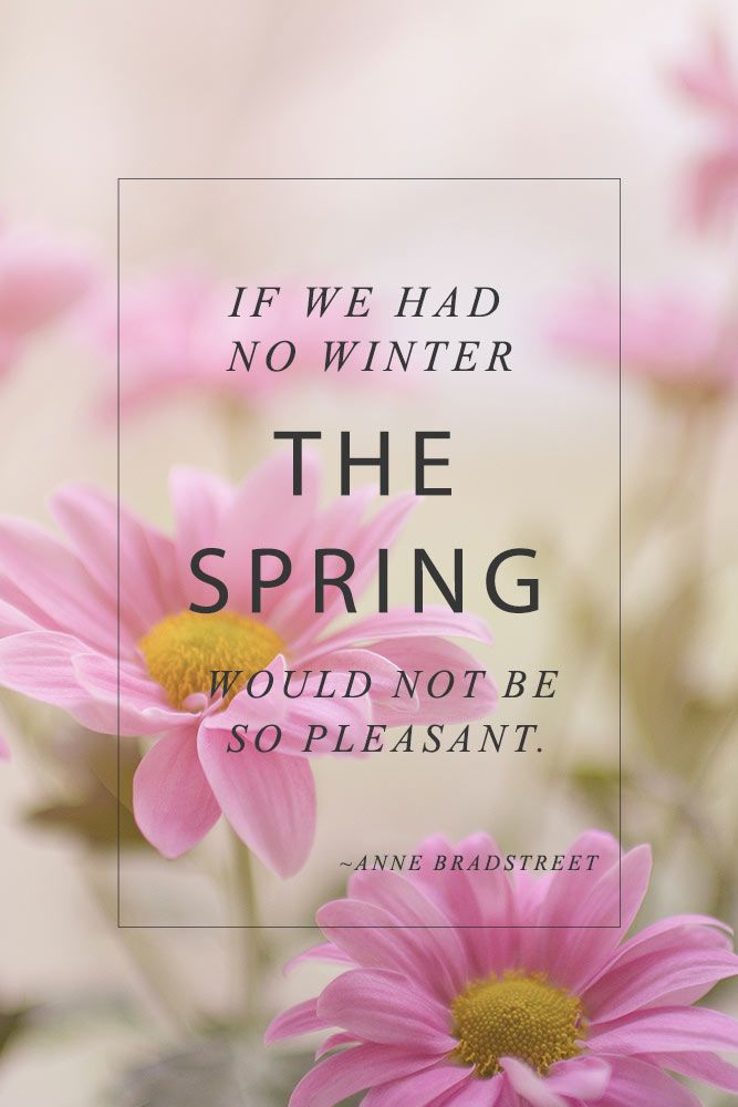 If We Had No Winter #inspirationquotes #springmood
