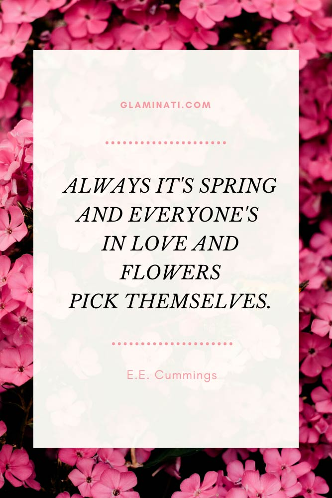 Spring Quotes By E.E. Cummings #cummings #inspirationquotes