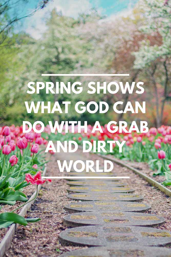 Spring shows what god can do with a grab and dirty world.