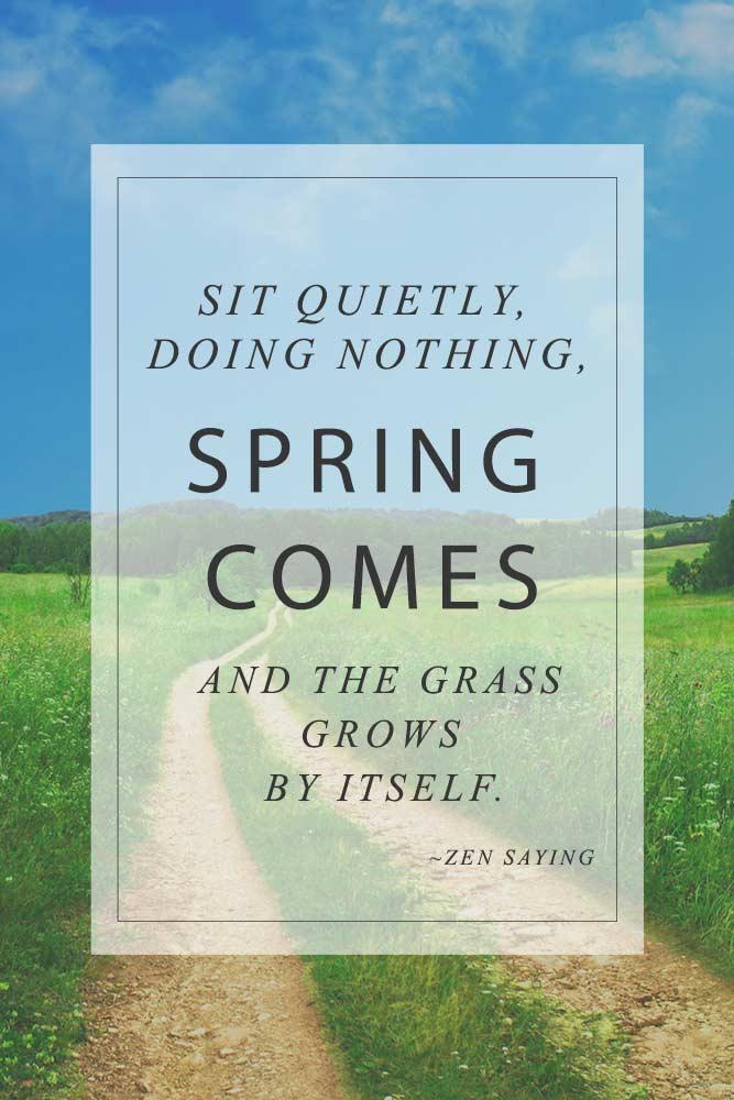 Spring Comes #inspirationquotes #springmood