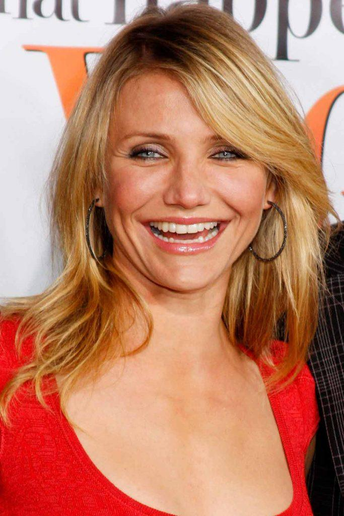 Cameron Diaz's Natural Strawberry Blonde Hair #camerondiaz #naturablond