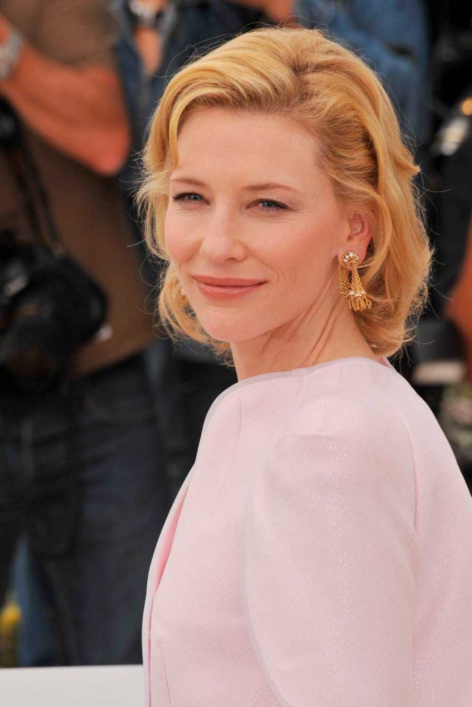 Short Strawberry Blonde Hair from Cate Blanchett # cateblanchett #shorthairstyles