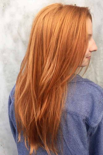 Long Layered Strawberry Blonde Hair #longhair #layeredhaircut