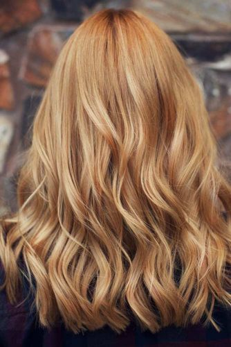 Long Textured Strawberry Blonde Hair #longhair #wavyhairstyle