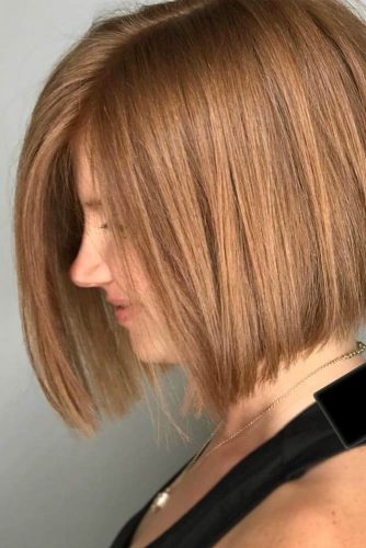 Short Strawberry Blonde Hair #shortbob #straighthair