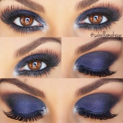 Deep Blue Smokey Eyes Makeup #smokeymakeup