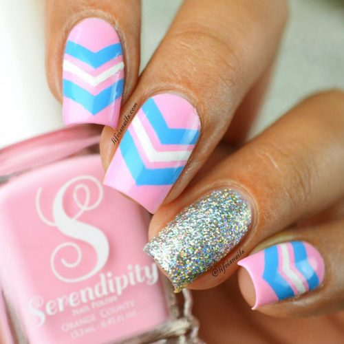 Chevron Design For Nails: Fun And Easy Picture 1