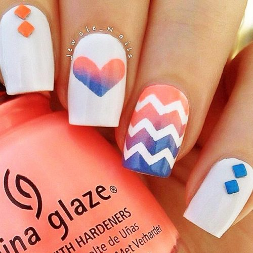 Chevron Design For Nails: Fun And Easy Picture 6