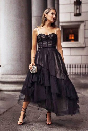 Black Classic Party Dress #blackdress #partydress