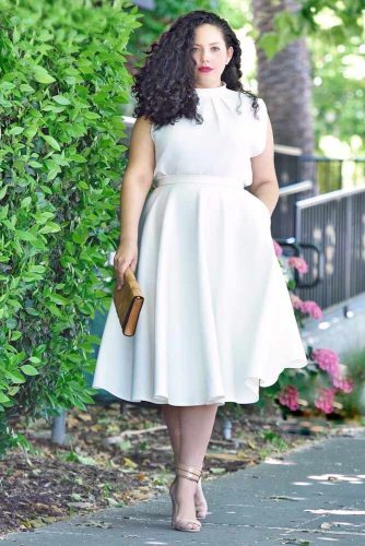 White Plus Size Dress Design #whitedress #plussize