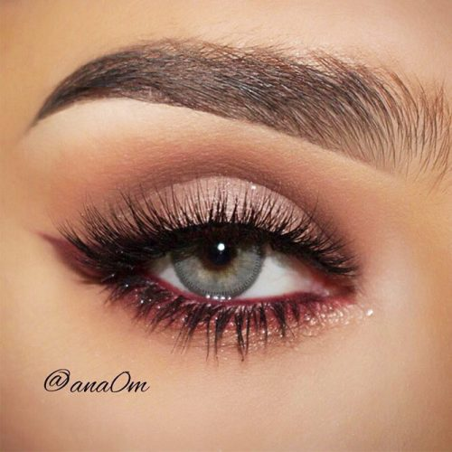 Soft Smokey Makeup With Color Eyeliner #coloreyeliner #grayeyes