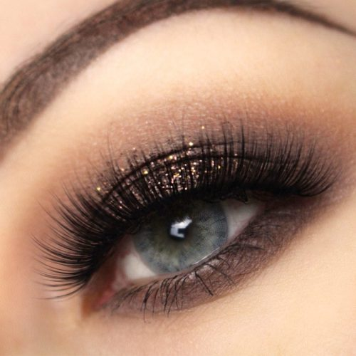 Shimmer Dark Brown Eyeshadow For Gray Eyes #shimmershadow #grayeyes