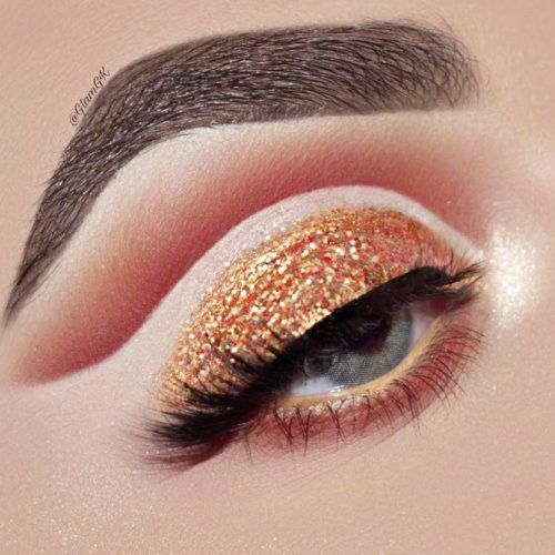 Gold Cut Crease Makeup For Gray Eyes #cutcrease