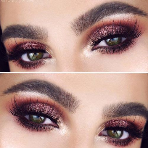 Brown Smokey Makeup For Hazel Eyes #brownsmokey