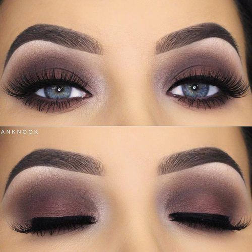 Matte Dark Smokey Makeup For Blue Eyes #smokeyeyes