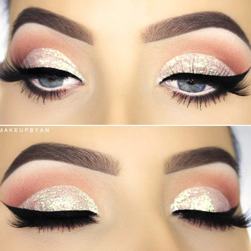 Glitter Eyeshadow For Sparkly Dramatic Makeup picture 3