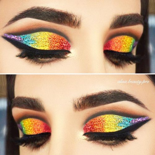 Glitter Eyeshadow For Sparkly Dramatic Makeup picture 1