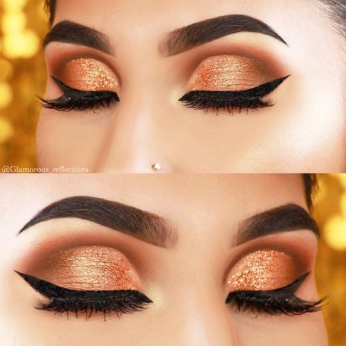 Glitter Eyeshadow For Sparkly Dramatic Makeup picture 2