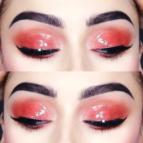 Burgundy Glossy Eyeshadow #glossylids