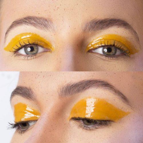 Sexy Eye Makeup With Glossy Eyeshadow #glossyeyeshadow