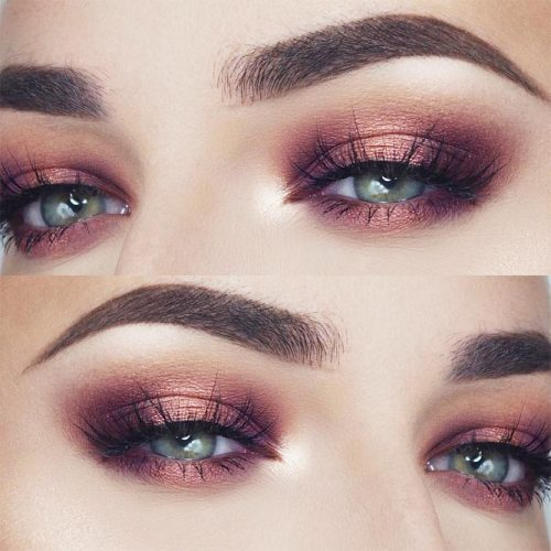 Shimmer Eyeshadow For Date Makeup #pinkshimmershadows