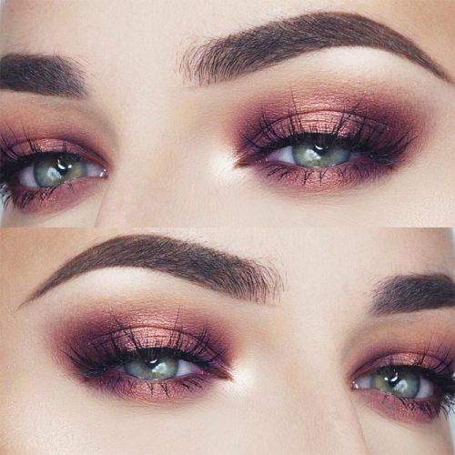 Shimmer Eyeshadow For Date Makeup #pinkshimmershadows