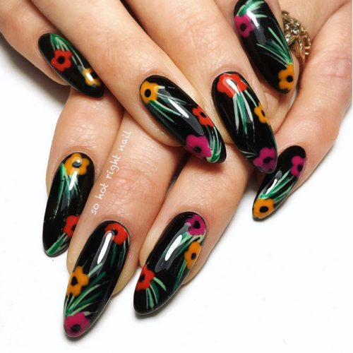 More Colorful Ideas Of Easy Flower Nails Design Picture 2