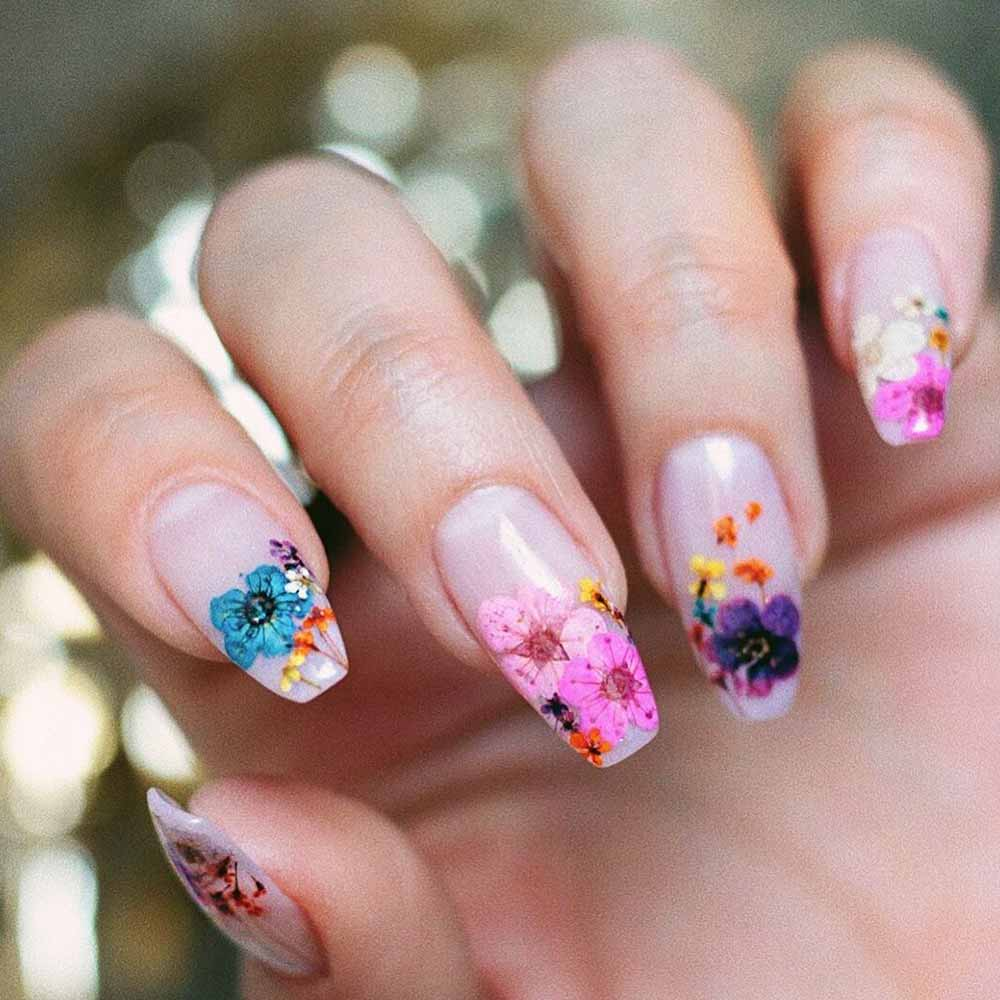 Dried Flowers Tips #driedflowers #brightnailart