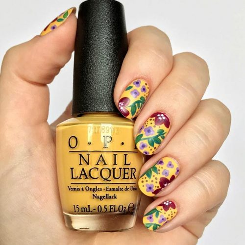 More Colorful Ideas Of Easy Flower Nails Design Picture 3