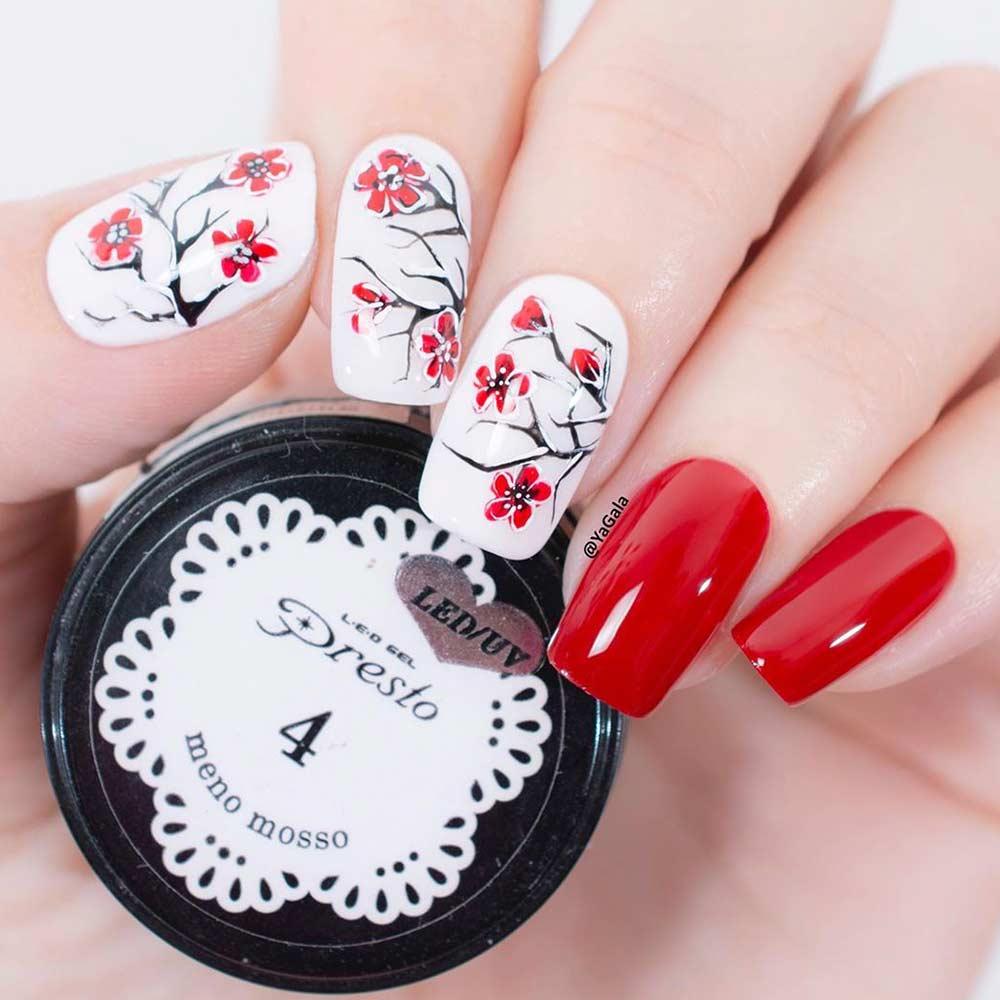 Sakura Nail Design #sakuranails #springnails