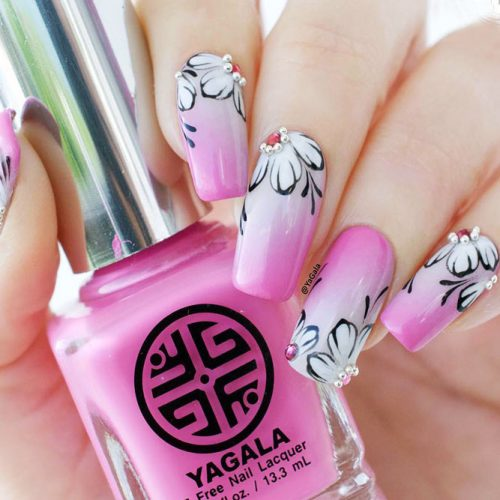 Trendy Flower Nail Designs Picture 3