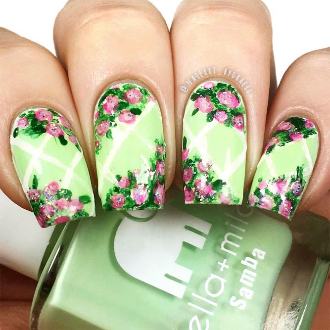More Colorful Ideas Of Easy Flower Nails Design Picture 1